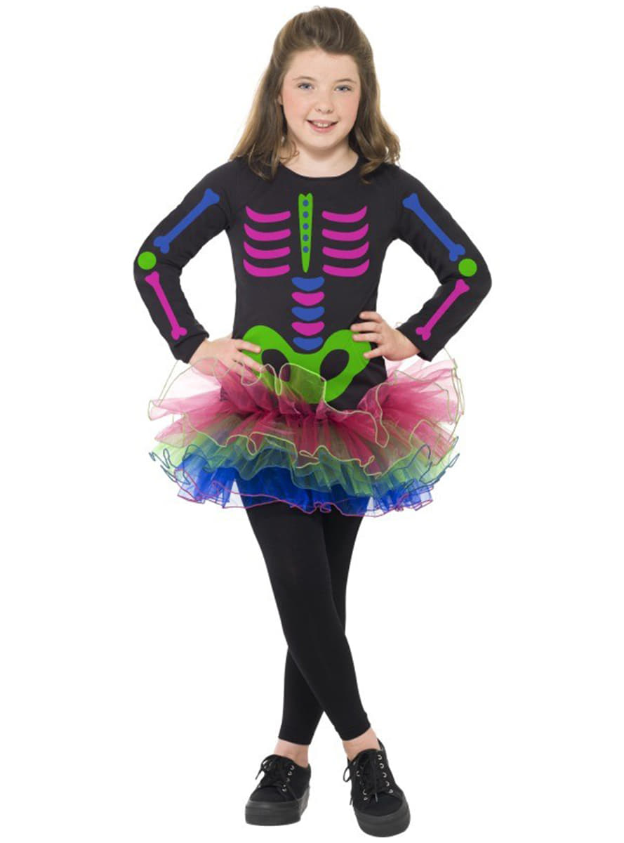 disfraz de esqueleto nen para nia