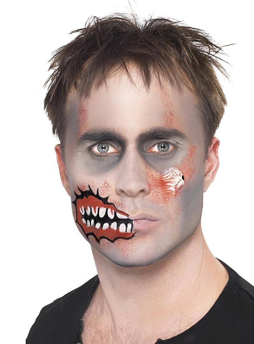 kit de maquillage de zombie avec un oeil en latex sur notre boutique de d guisement les. Black Bedroom Furniture Sets. Home Design Ideas