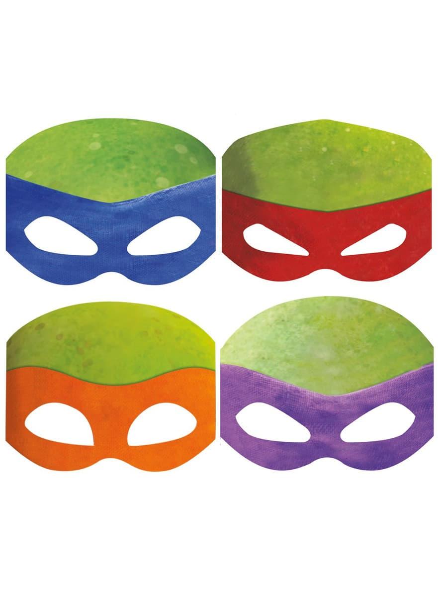 Kit de masques des tortues ninja pour d guisement funidelia - Voiture des tortues ninja ...