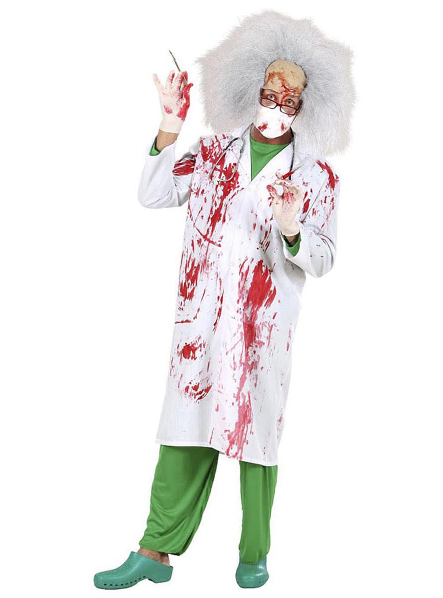 Disfraz de doctor asesino ensangrentado para hombre  Funidelia