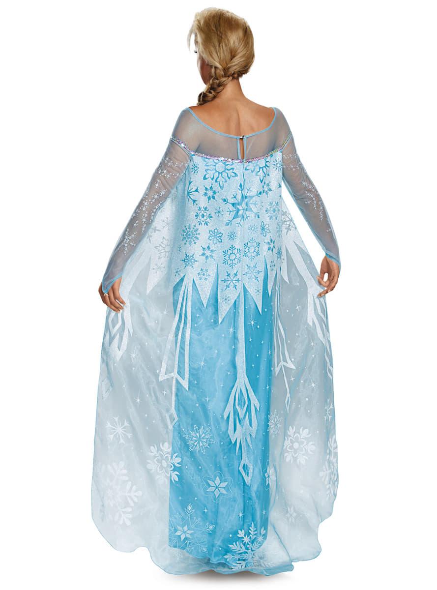 Costume elsa la reine des neiges prestige femme - La reine elsa ...