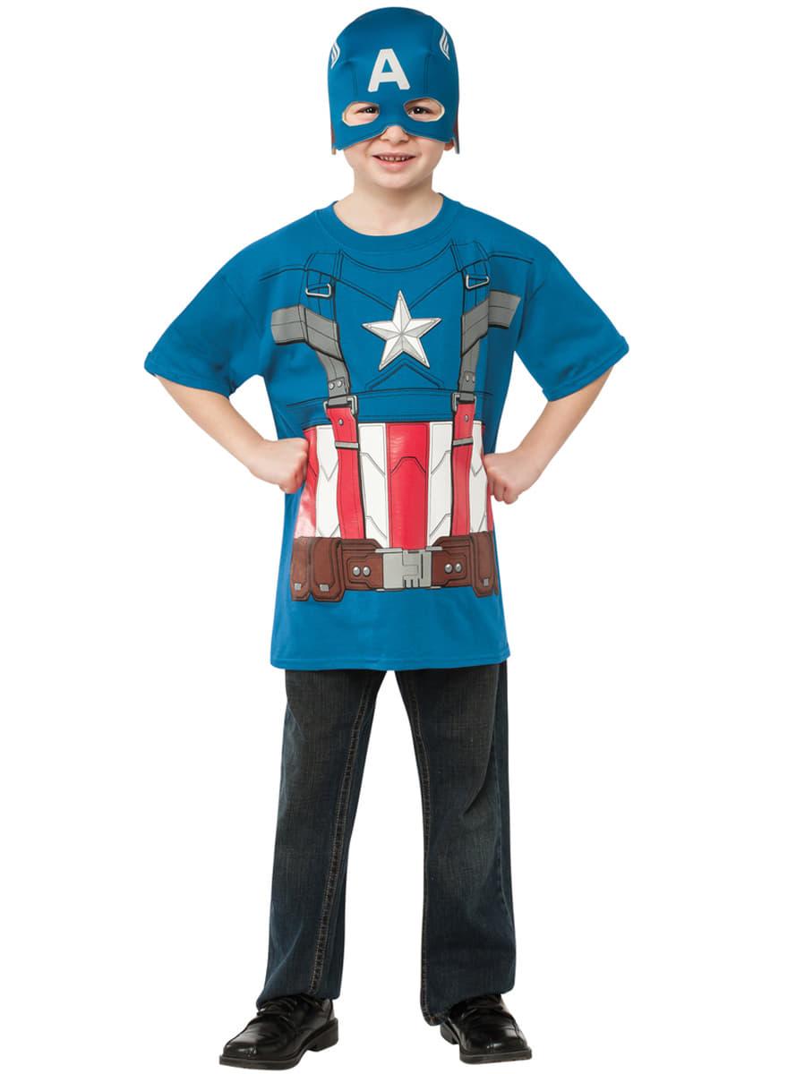 captain america kost m set f r jungen captain america der. Black Bedroom Furniture Sets. Home Design Ideas