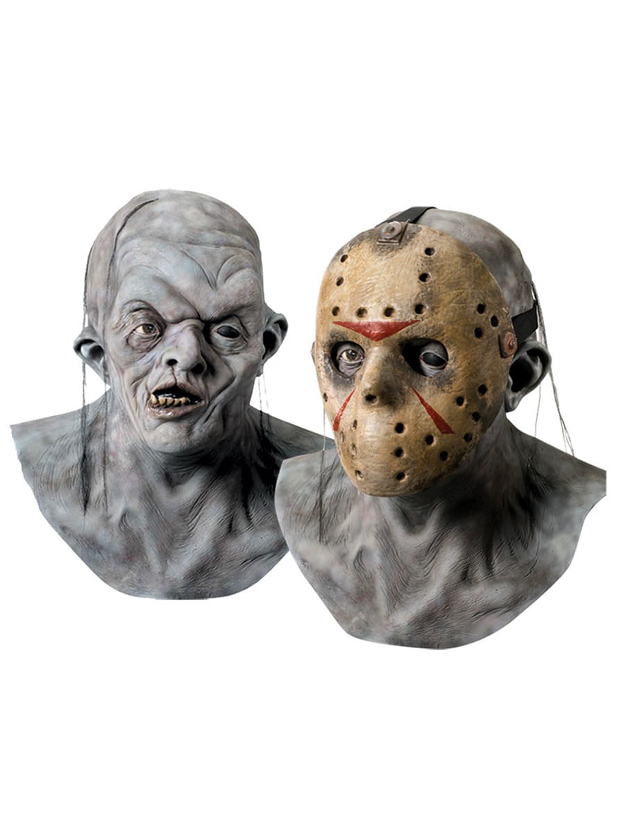 Freddy vs Jason latex mask for an adult