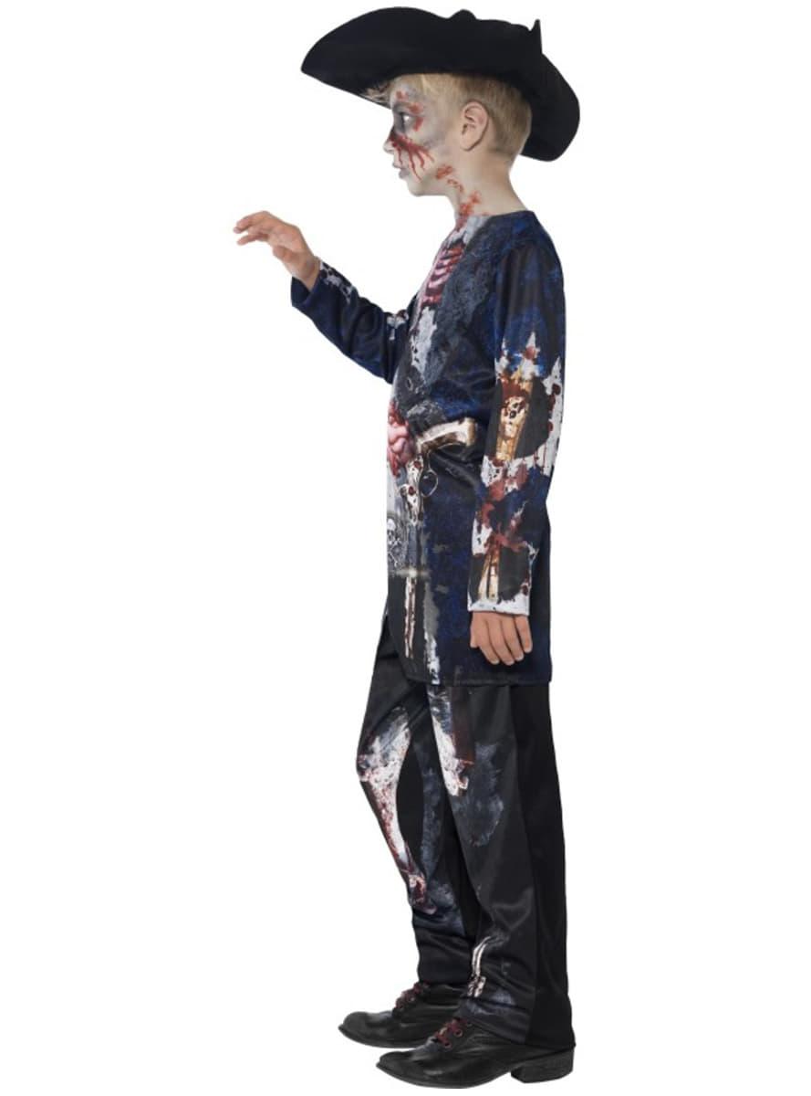 disfraz de pirata zombie deluxe para nio