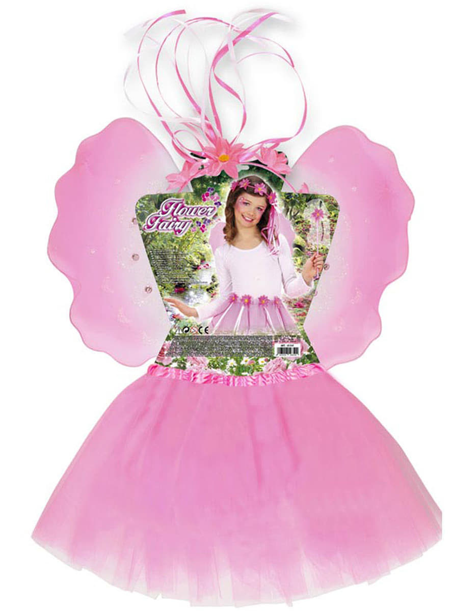 kit disfraz de hada de las flores para nia