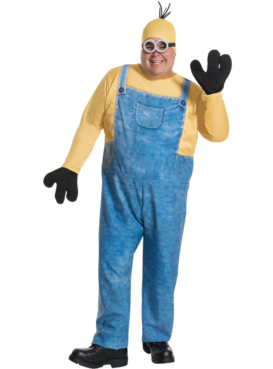 adult's plus size kevin minion costume