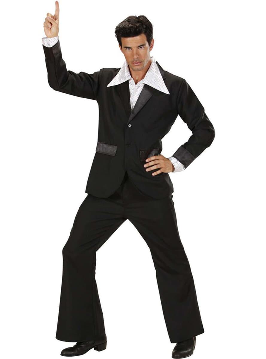 costume disco noir homme. Black Bedroom Furniture Sets. Home Design Ideas