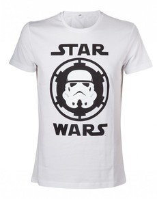 Camiseta de casco Stormtrooper blanca